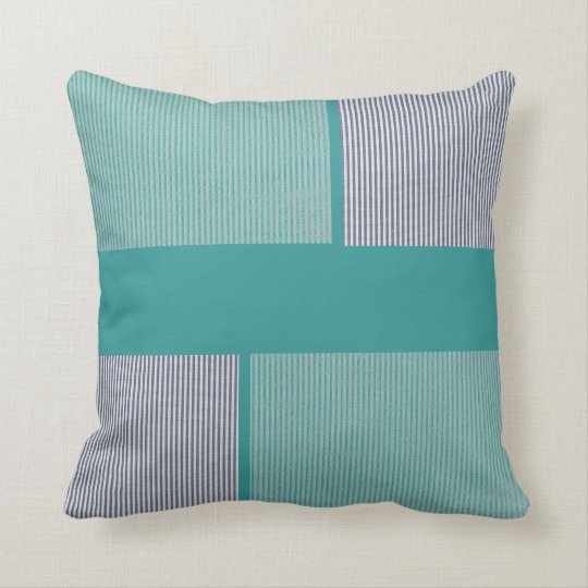 Modern Stripe American MoJo Throw Pillow