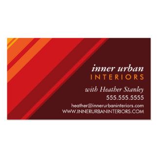 MODERN STRIPE bold fresh monochrome hot red Business Card