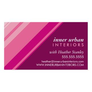 MODERN STRIPE bold fresh monochrome pink plum Business Card