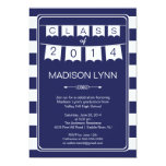 "Modern Stripe Pennant Bunting Graduation Party 5"" X 7"" Invitation Card"