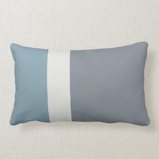 Modern Striped Pillows : Modern Striped Blue and Gray Pillow Zazzle