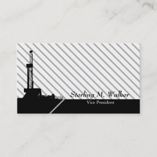 Oilfield business cards templates zazzle modern striped oilfield design business card reheart Image collections