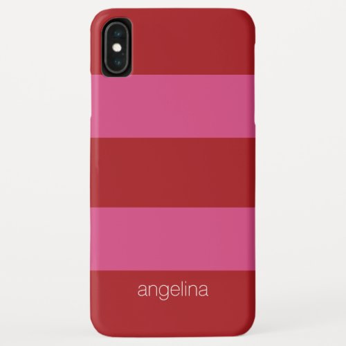 Modern Striped Pattern with custom name Phone Case