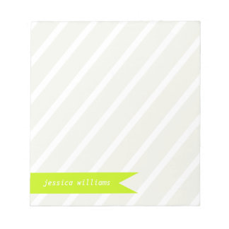 Modern Stripes and Banner Note Pad