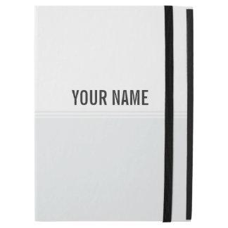 Modern Stripes Ash White Custom iPad Pro Case