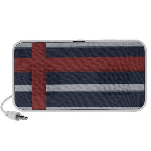 Modern Stripes Blue Travel Speakers