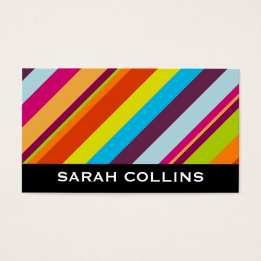 Professional Business Modern (stripes) business card