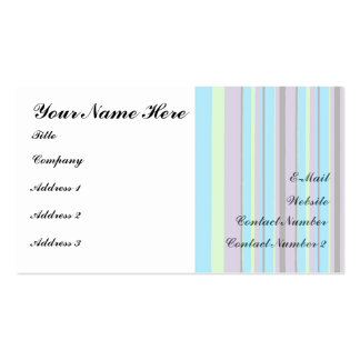 Modern Stripes Business Cards