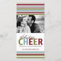Modern Stripes Christmas Photo Card