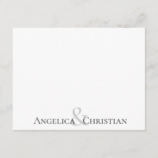 Modern Stripes Couples Personalized Stationery Note Card