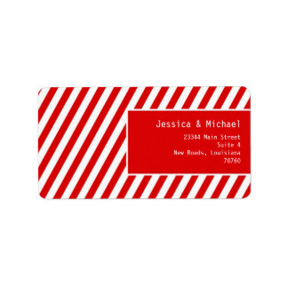 Modern Stripes Custom Address Label