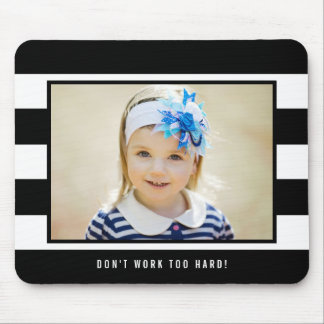 Modern Stripes EDITABLE COLOR Photo Mouse Pad
