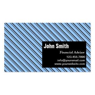 Modern Stripes Financial Advisor Business Card