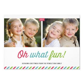 "Modern Stripes   Holiday Photo Card 5"" X 7"" Invitation Card"
