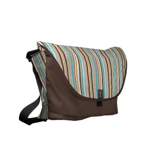 Modern Stripes Medium Messenger Bag