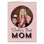 Modern Stripes Mothers Day Photo Card Greeting Cards