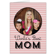 Modern Stripes Mothers Day Photo Card