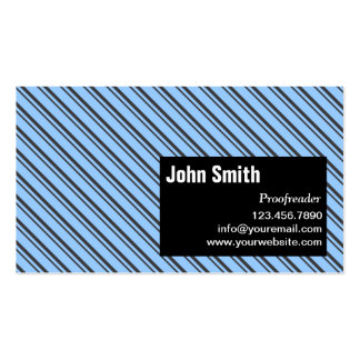 Modern Stripes Proofreading Business Card