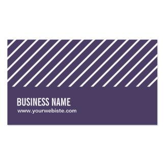Modern Stripes Purple Storyteller Business Card