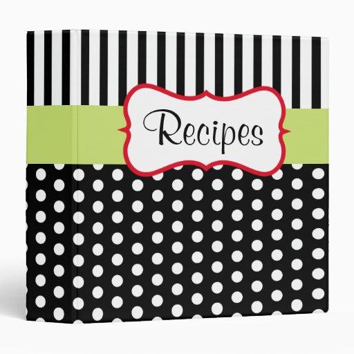Modern Stripes Recipe Binder