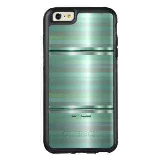 Modern Stripes Shades Of Green OtterBox iPhone 6/6s Plus Case