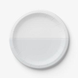 Modern Stripes Snow White Custom Paper Plate