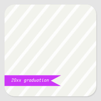 Modern Stripes Square Sticker