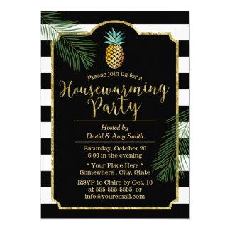 Modern Stripes Tropical Pineapple Housewarming Card