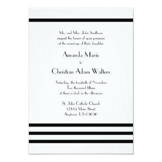 Modern Stripes Wedding Invitations (Black)