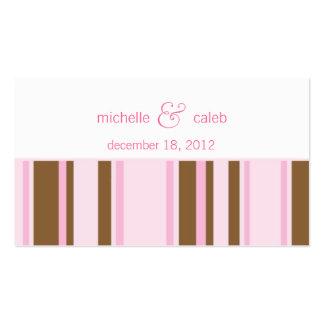 modern stripes wedding website business card