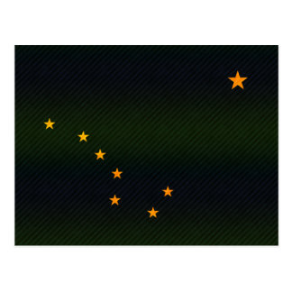 Modern Stripped Alaskan flag Postcard