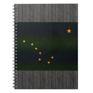 Modern Stripped Alaskan flag Spiral Notebook