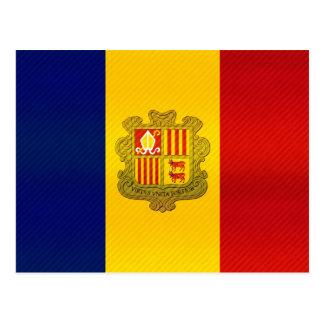 Modern Stripped Andorran flag Postcard
