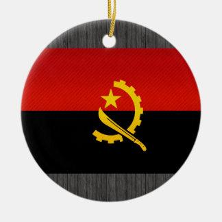 Modern Stripped Angolan flag Ceramic Ornament