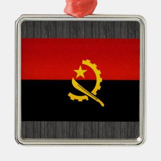 Modern Stripped Angolan flag Metal Ornament