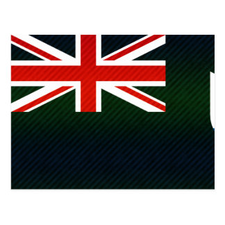 Modern Stripped Anguillan flag Postcard