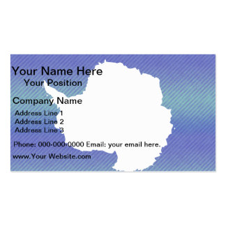 Modern Stripped Antartican flag Double-Sided Standard Business Cards (Pack Of 100)