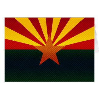 Modern Stripped Arizonan flag Greeting Card
