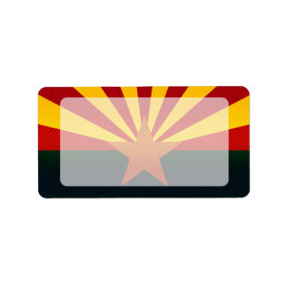 Modern Stripped Arizonan flag Custom Address Labels