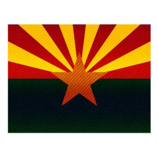 Modern Stripped Arizonan flag Post Card