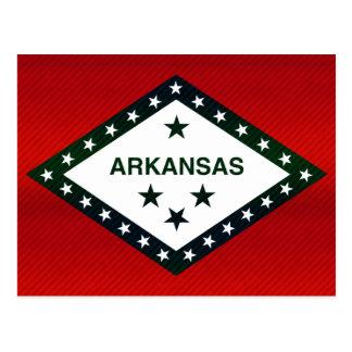 Modern Stripped Arkansan flag Postcard