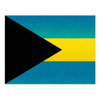 Modern Stripped Bahamian flag Postcard