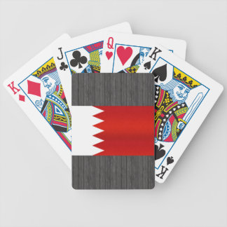 Modern Stripped Bahraini flag Bicycle Playing Cards