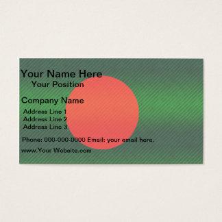 Modern Stripped Bangladeshi flag Business Card