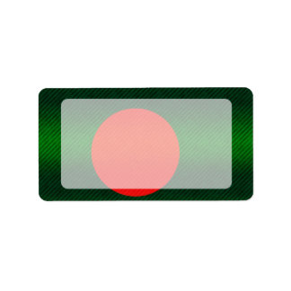 Modern Stripped Bangladeshi flag Label