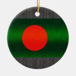 Modern Stripped Bangladeshi flag Christmas Ornaments