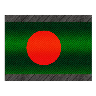 Modern Stripped Bangladeshi flag Postcard