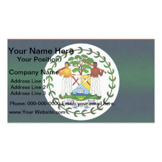 Modern Stripped Belizean flag Business Card Template