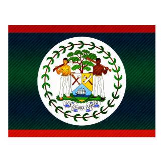 Modern Stripped Belizean flag Postcard