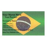 Modern Stripped Brazilian flag Business Card